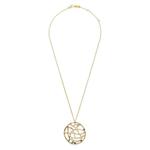 Drizzle Large Pendant Necklace in 18K Gold with Diamonds GN1416DIA