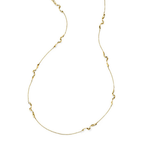 Small Twisted Ribbon Necklace in 18K Gold GN1426