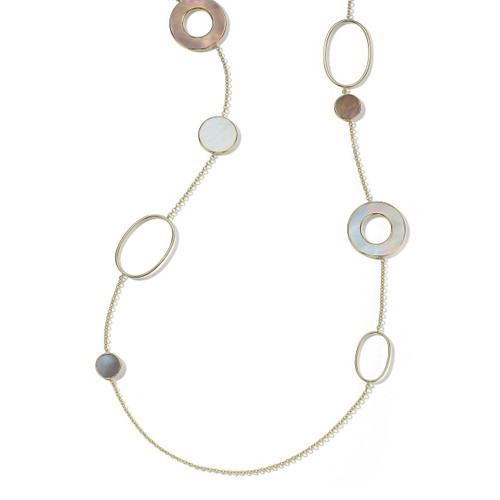 Mixed Link & Slice Necklace in 18K Gold GN1473SABBIA