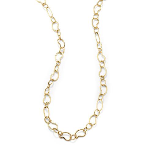 Long Prosper Necklace in 18K Gold GN148T