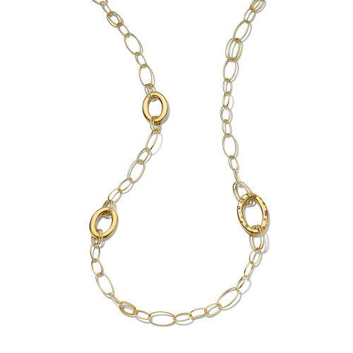 Three Large Link Chain in 18K Gold GN1521OSPSDIA