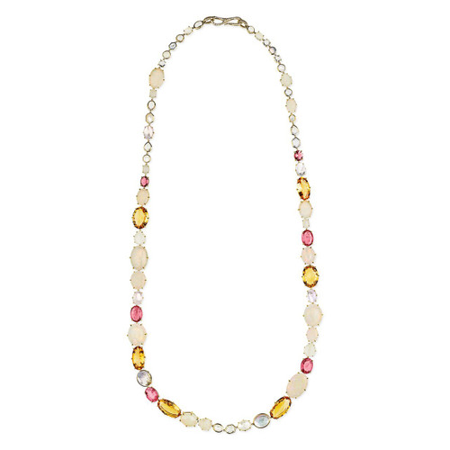 All Stone Sofia Necklace in 18K Gold with Diamonds GN1532PTOCRBLOP