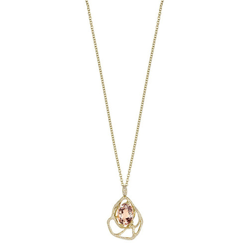 Drizzle Pendant in 18K Gold with Diamonds GN1537MORDIA