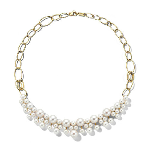 Bead Pattern Necklace in 18K Gold GN1545PRL