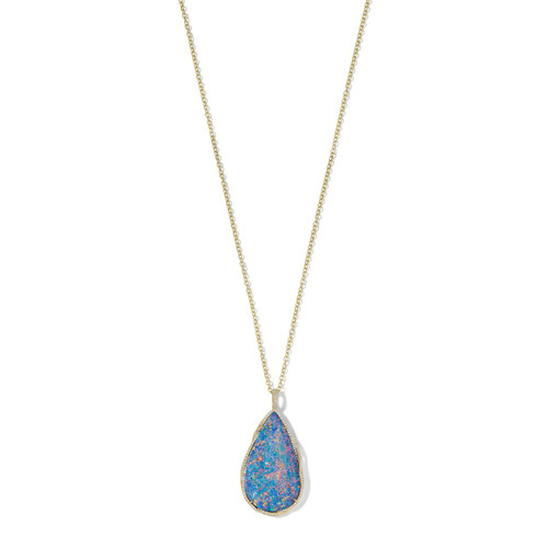Teardrop Pendant Necklace in 18K Gold with Diamonds GN1550BOBDIA