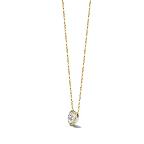 Carnevale Stone Necklace in 18K Gold with Diamonds GN1555CQDIAOW2