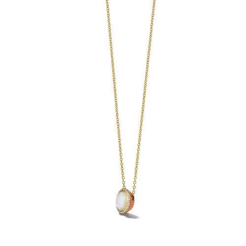 Carnevale Stone Necklace in 18K Gold with Diamonds GN1555DFMDIACP