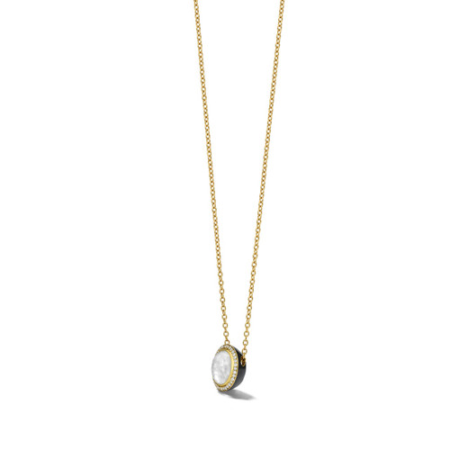 Carnevale Stone Necklace in 18K Gold with Diamonds GN1555DFMDIADB