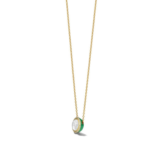 Carnevale Stone Necklace in 18K Gold with Diamonds GN1555DFMDIAEG