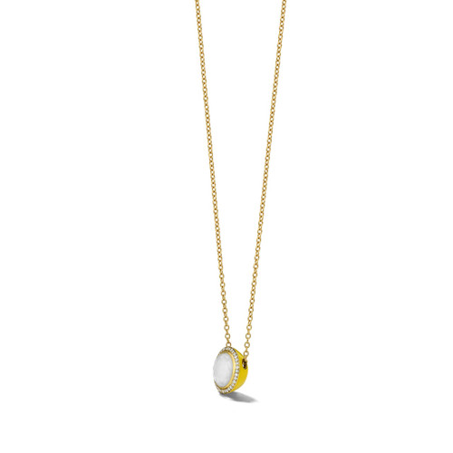 Carnevale Stone Necklace in 18K Gold with Diamonds GN1555DFMDIAIY