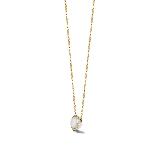 Carnevale Stone Necklace in 18K Gold with Diamonds GN1555DFMDIAOW2