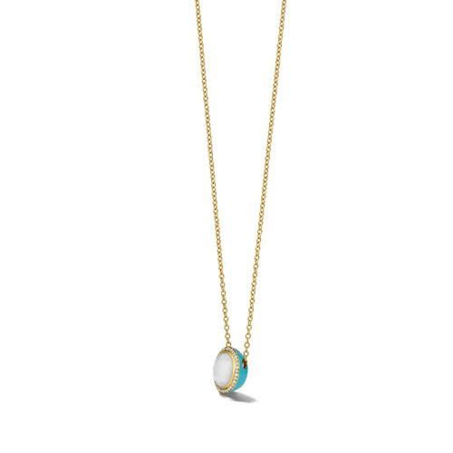 Carnevale Stone Necklace in 18K Gold with Diamonds GN1555DFMDIATU