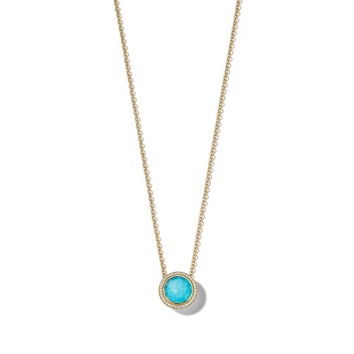 Carnevale Stone Necklace in 18K Gold with Diamonds GN1555DFTQDIOW2