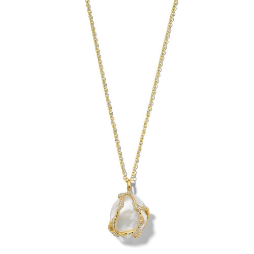 Drizzle Necklace in 18K Gold GN1579PRLDIA