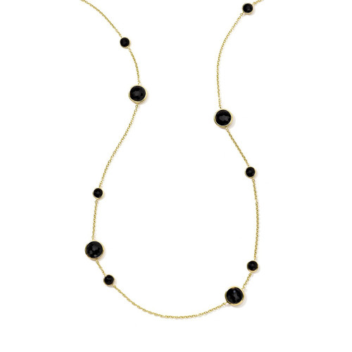 Long Station Necklace in 18K Gold GN171NX