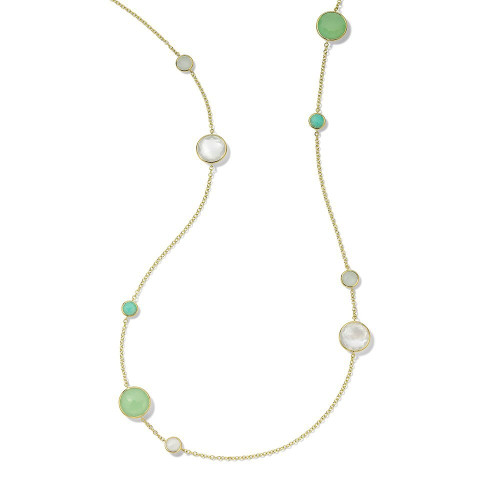 Long Station Necklace in 18K Gold GN171SIREN
