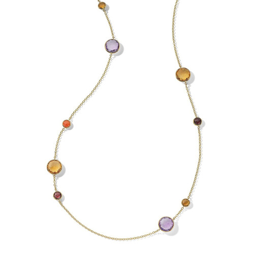 Long Station Necklace in 18K Gold GN171SONOMA