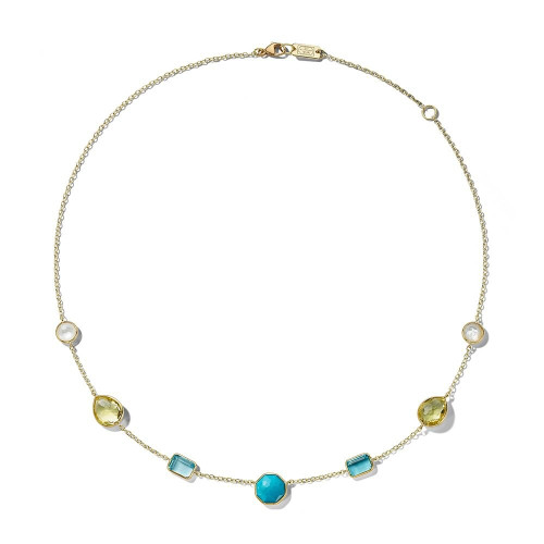 5-Stone Necklace in 18K Gold GN300OASIS