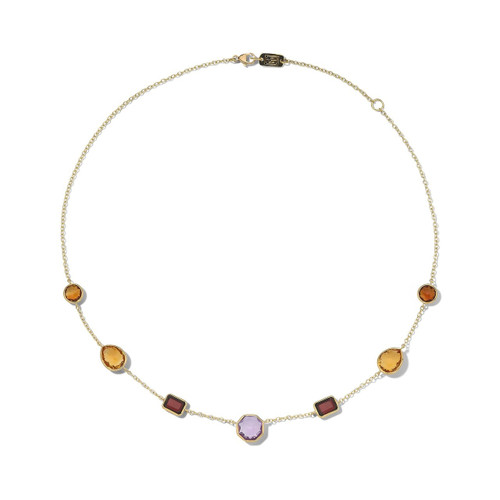 7-Stone Necklace in 18K Gold GN300SONOMA