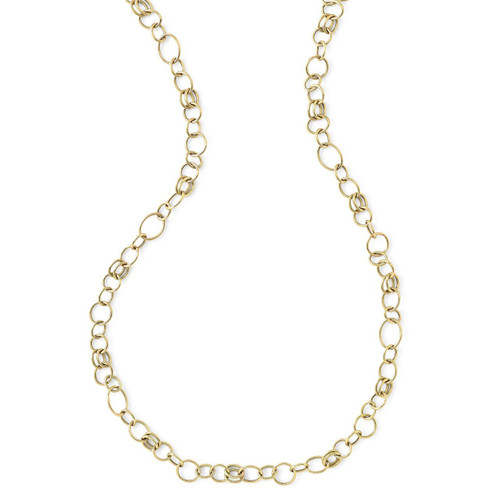 Short Smooth Chain Necklace in 18K Gold GN340X18