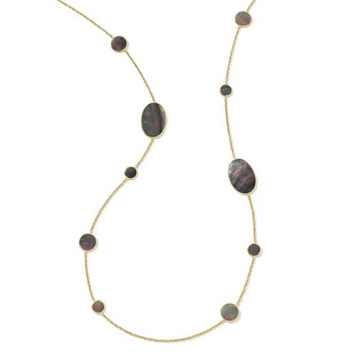 Multi Shape Necklace in 18K Gold GN413BKLSL