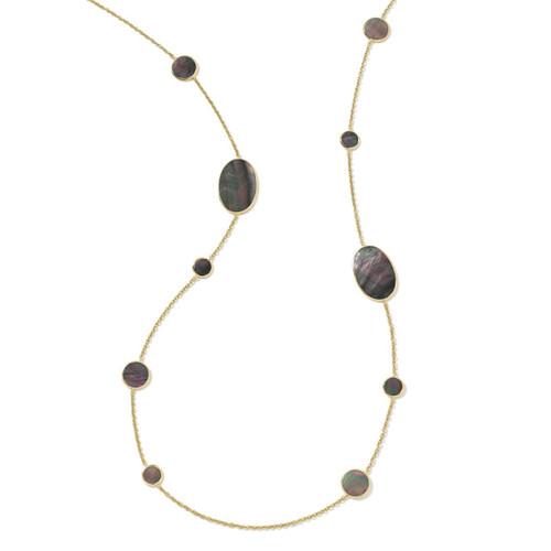 Multi Shape Necklace in 18K Gold GN413BKLSL