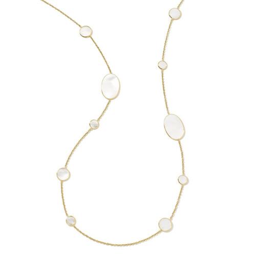 Multi Shape Necklace in 18K Gold GN413MOPSL