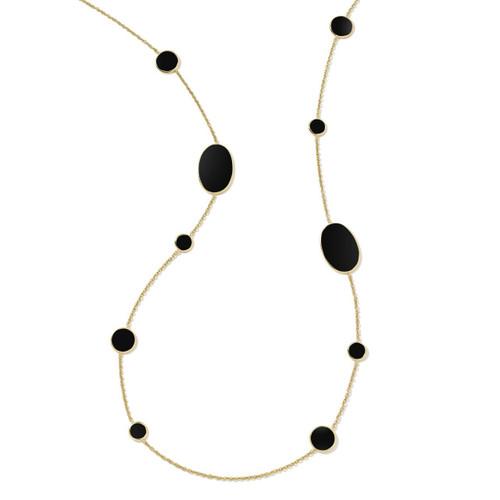 Multi Shape Necklace in 18K Gold GN413NXSL