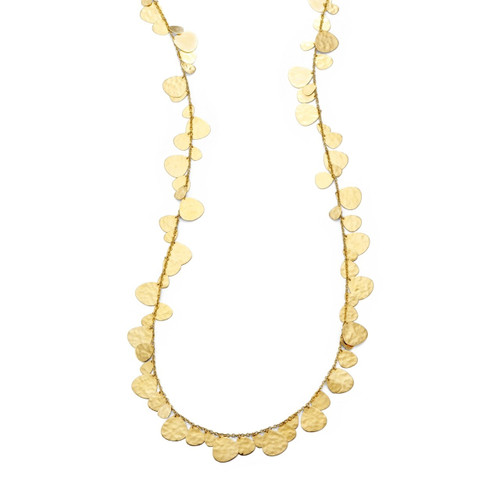 Crinkle Hammered Nomad Necklace in 18K Gold GN609