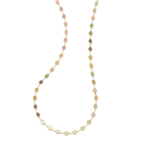 Confetti Multi Stone Necklace in 18K Gold GN616BRLSL