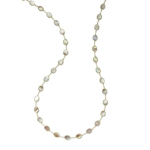 Confetti Multi Stone Necklace in 18K Gold GN616PMO