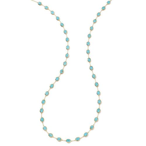 Confetti Multi Stone Necklace in 18K Gold GN616TQSL