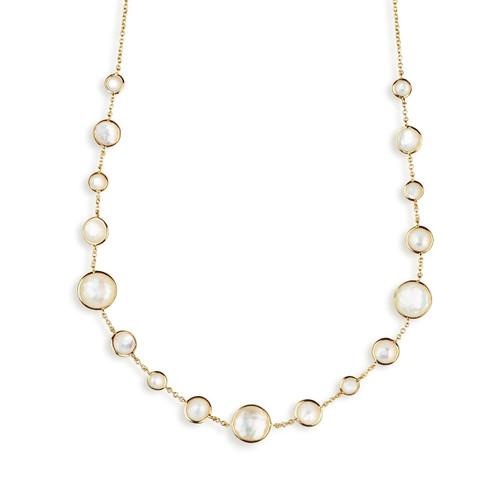 Lollitini Short Necklace in 18K Gold GN618X18DFMOPMOP