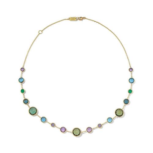 Lollitini Short Necklace in 18K Gold GN618X18HOLOGEM