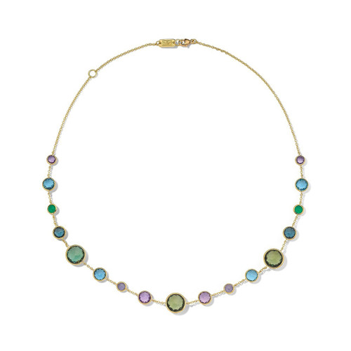 Lollitini Short Necklace in 18K Gold GN618X18HOLOGEM