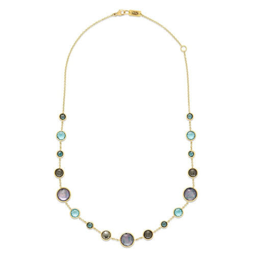 Lollitini Short Necklace in 18K Gold GN618X18MIDRAIN
