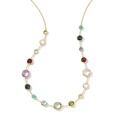 Lollitini Short Necklace in 18K Gold GN618X18MULTI