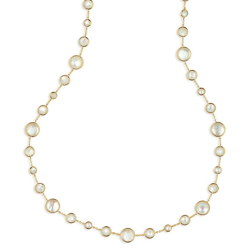 Lollitini Long Necklace in 18K Gold GN618X36DFMOPMOP