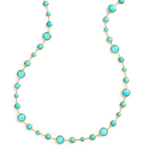Lollitini Long Necklace in 18K Gold GN618X36DFTQTQ