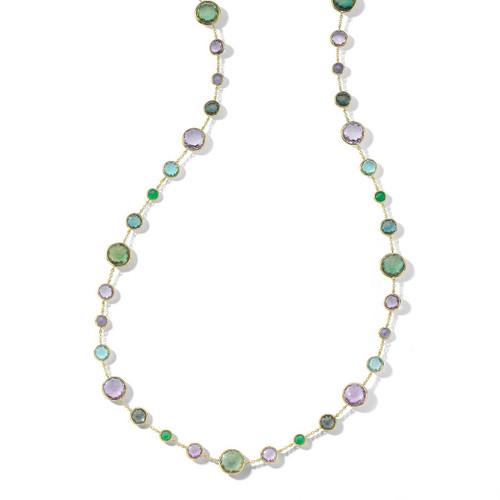 Lollitini Long Necklace in 18K Gold GN618X36HOLOGEM