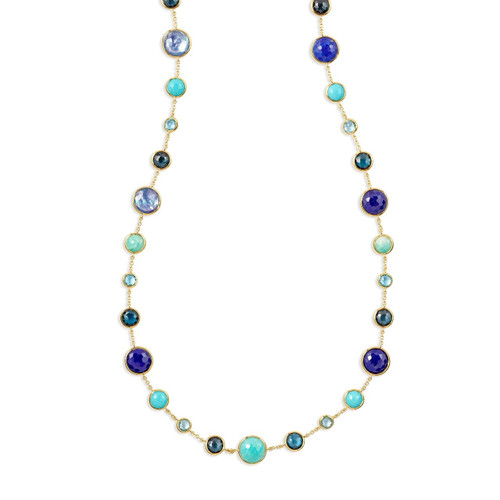 Lollitini Long Necklace in 18K Gold GN618X36WATERFAL