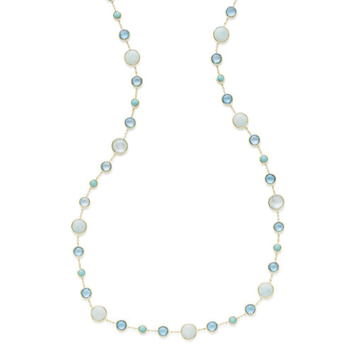 Lollitini Long Necklace in 18K Gold GN618X36WATRFAL2