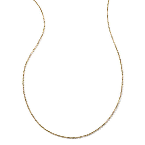 Short Thin Charm Chain Necklace in 18K Gold GN837