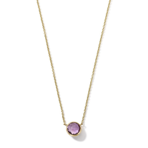Mini Pendant Necklace in 18K Gold GN865AM