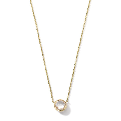Mini Pendant Necklace in 18K Gold GN865CQ
