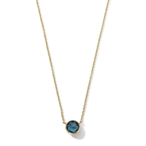 Mini Pendant Necklace in 18K Gold GN865LBT