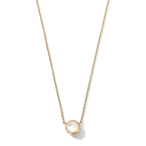 Mini Pendant Necklace in 18K Gold GN865MOP