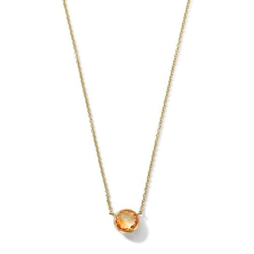 Mini Pendant Necklace in 18K Gold GN865OC