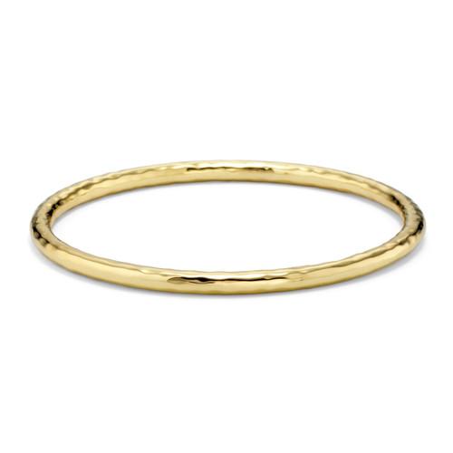 Medium Hammered Bangle in 18K Gold GB240