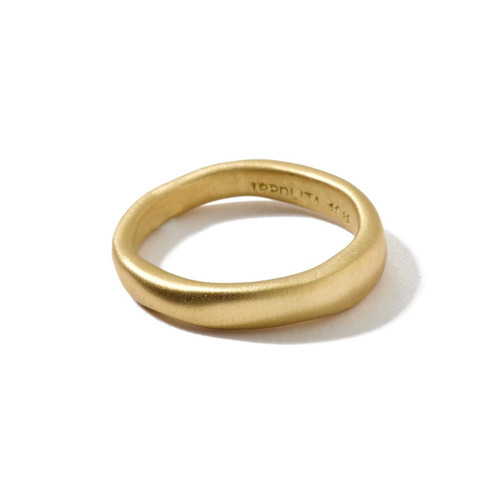 Matte Wide Squiggle Ring in 18K Gold GR004